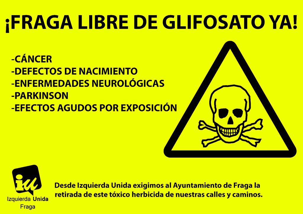 IU inicia en Fraga una campaña para pedir al Ayuntamiento la erradicación del uso del glifosato en espacios públicos