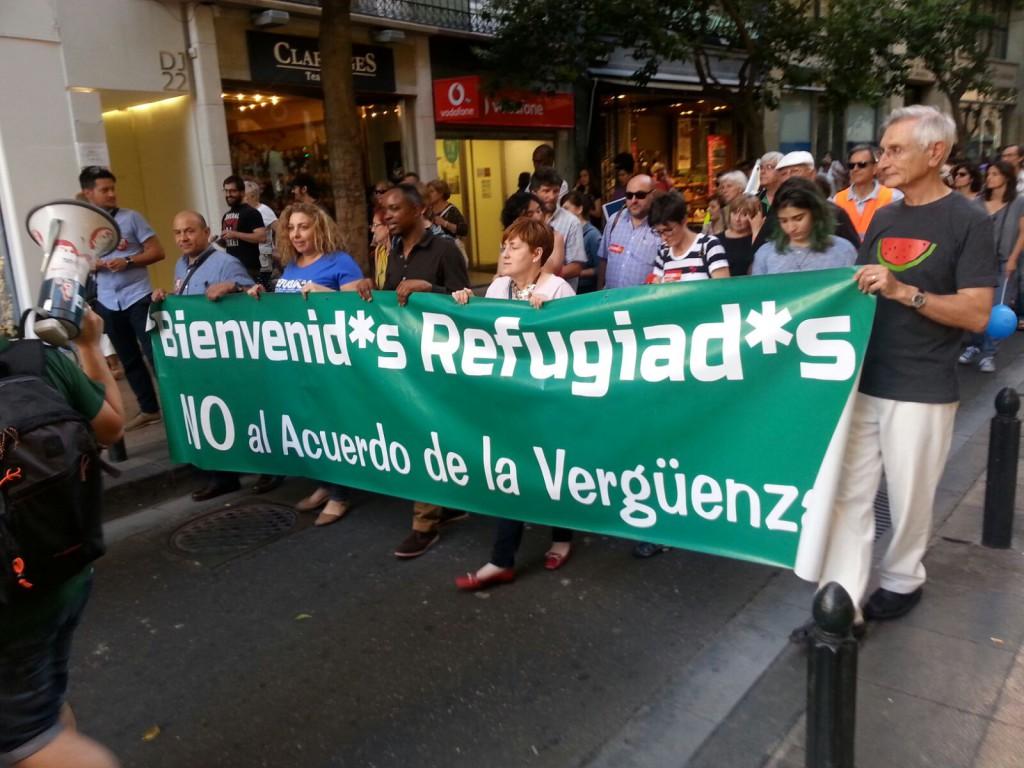Zaragoza sale a la calle en el Día Mundial de las Personas Refugiadas