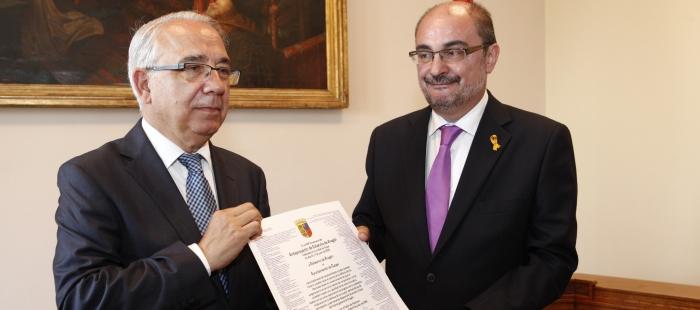 El Gobierno de Aragón conmemora el 80 aniversario del Estatuto de Autonomía de Caspe
