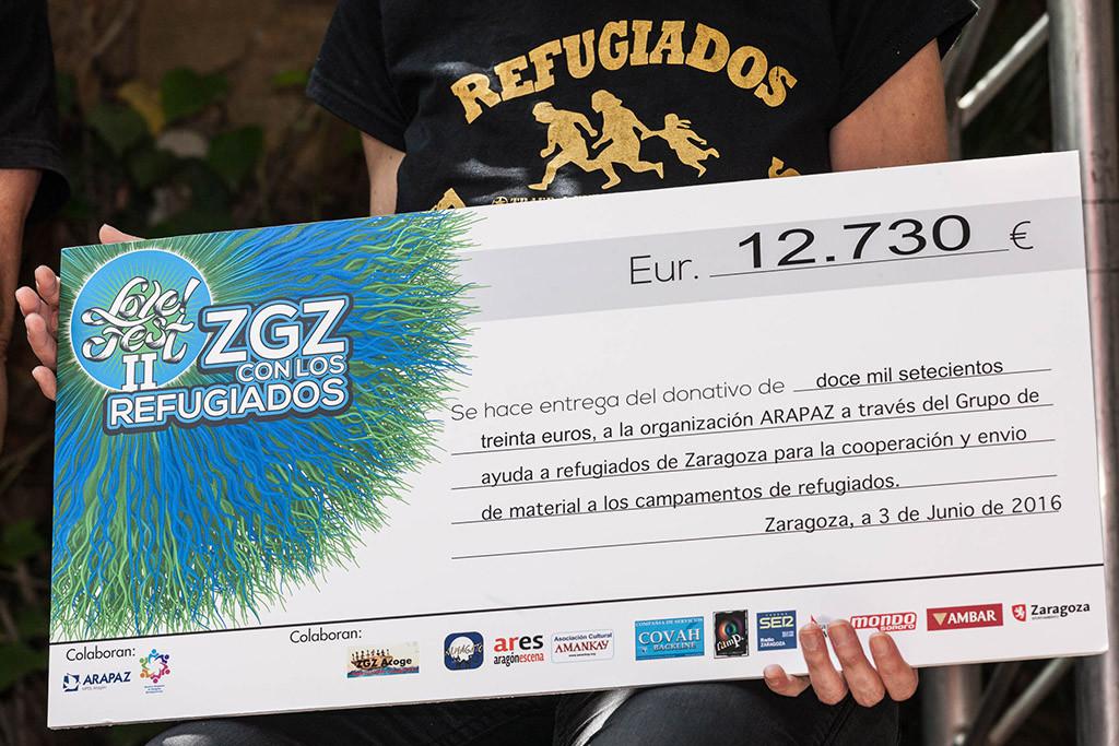 El Love Fest recauda 12.730 euros para ayudar las personas refugiadas