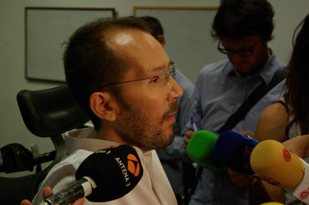 Pablo Echenique. Foto: Miguel Ángel Conejos (AraInfo).
