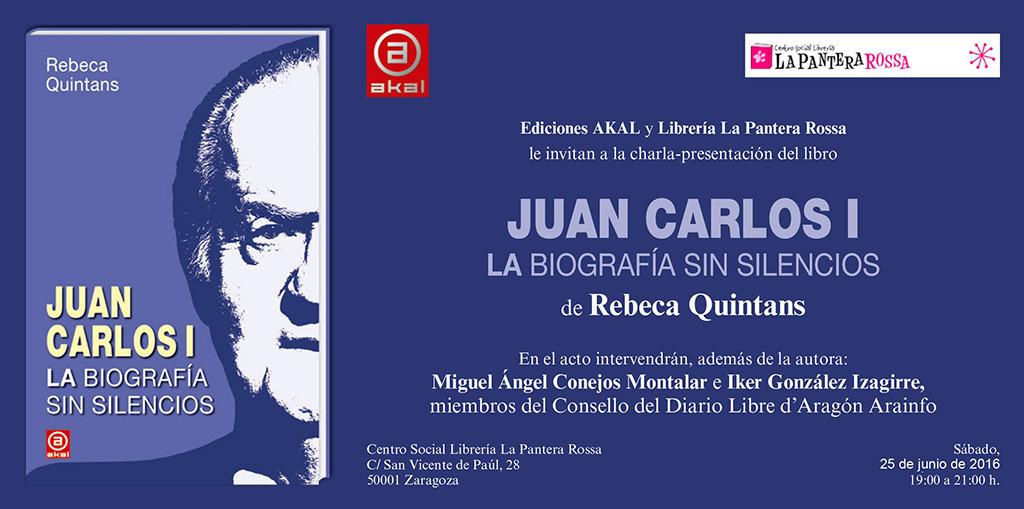 Rebeca Quintans presenta en La Pantera Rossa su libro «Juan Carlos I. La biografía sin silencios»