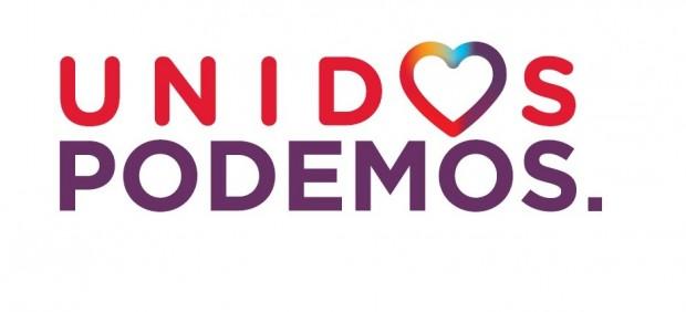 """El lema """"La sonrisa de un país"""" y un corazón multicolor para la campaña Unidos Podemos"""