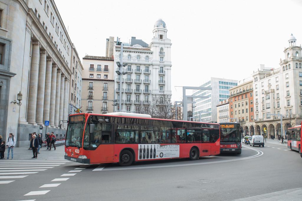 Los paros en los buses urbanos de Zaragoza continuarán este fin de semana