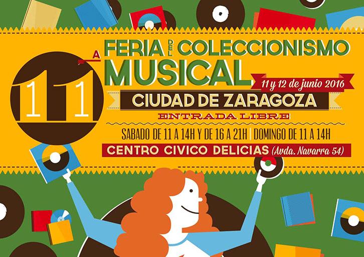 El Centro Cívico Delicias acoge la XI edición de la Feria del Coleccionismo Musical
