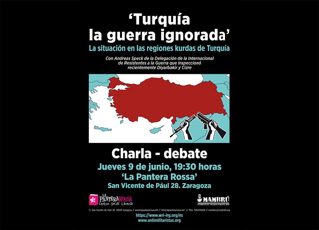 """""""Turquía – La Guerra Ignorada"""", charla-debate en La Pantera Rossa"""