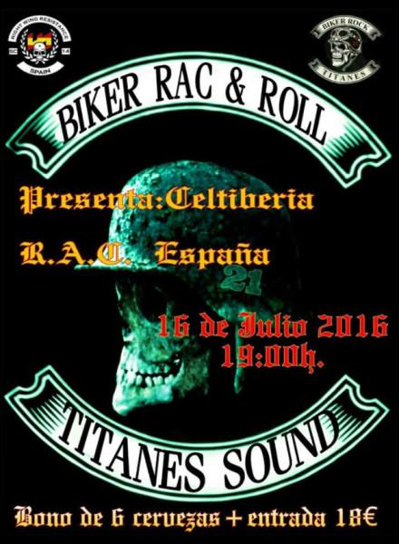 Cartel del concierto de música RAC en Exeya prohíbido por el Ayuntamiento.