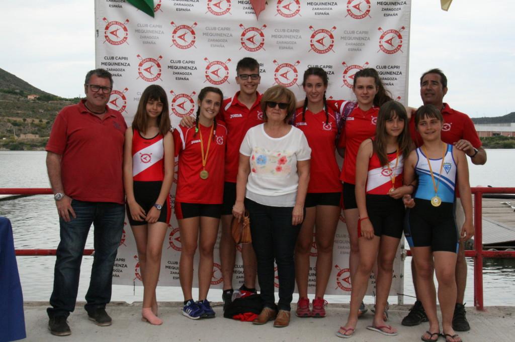 El Capri Club de Mequinensa participa en el Campeonato estatal de Remo Olímpico en categorías inferiores