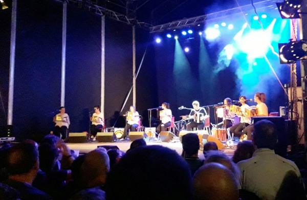 El músico de Euskal Herria, Kepa Junkera durante su actuación en Boltaña. Foto: Pirenostrum