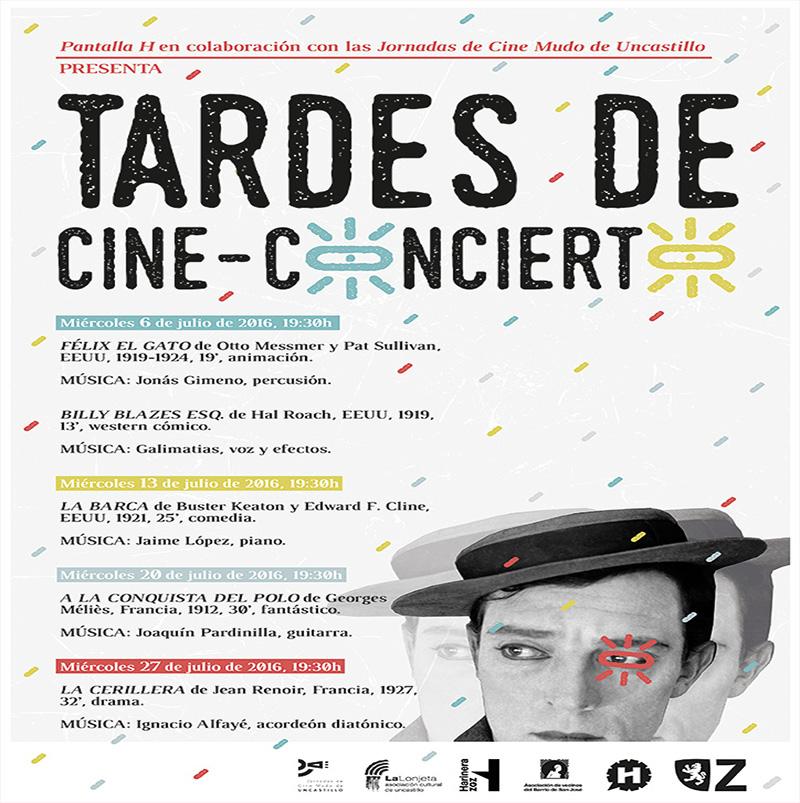 Tardes de Cine-Concierto con el ciclo de la Harinera Zaragoza y del Festival de cine Mudo de Uncastillo