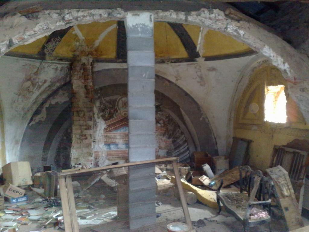 Acciona derriba la ermita de Los Palacios en La Almunia en el entorno del embalse de Mularroya