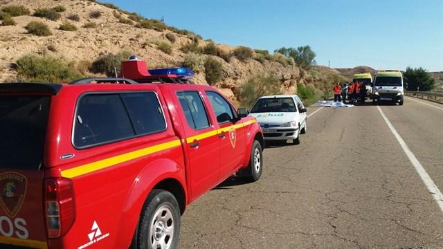 Un conductor ebrio atropella mortalmente a dos personas en Botorrita