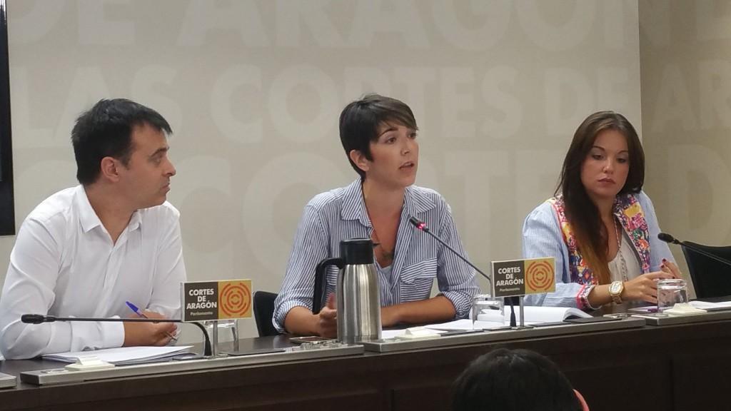 Podemos Aragón presenta su proyecto para la presidencia de las Cortes basado en la participación ciudadana y en la rendición de cuentas