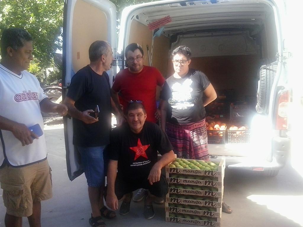 Segunda donación de fruta de un agricultor de Fraga a la RSP para fines sociales