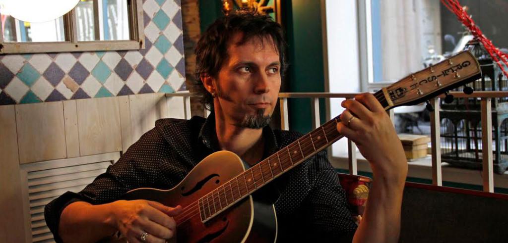 David Angulo en concierto, con Torsten Weber, Marisol Aznar y Pepín Banzo, en El Sótano Mágico