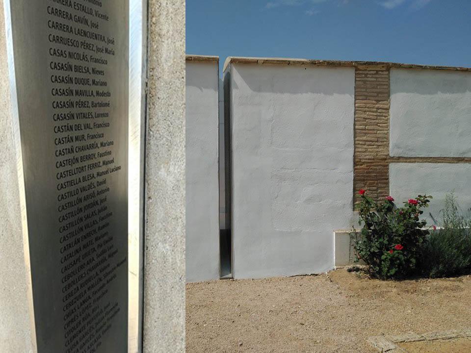 Inauguran el Memorial para los fusilados y fusiladas en Uesca