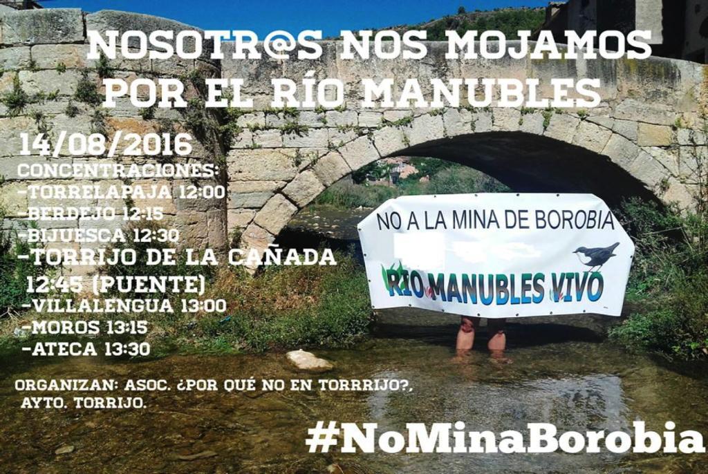 """""""Nosotros nos mojamos por el río Manubles. Mójate tú también"""""""