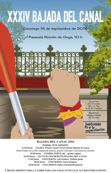 Programa de actos celebrados este domingo en el Parque de la Paz.