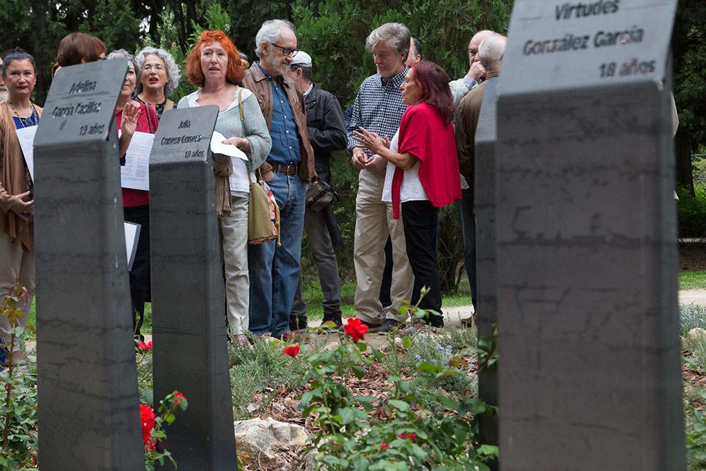 Homenaje a Las Treces Rosas en Zaragoza