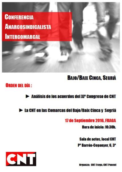 Conferencia afiliad@s Fraga-Lleida CNT