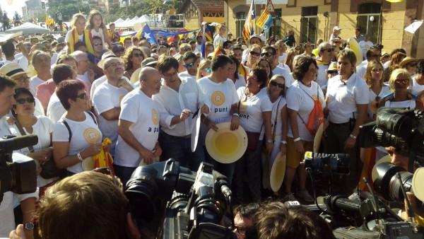 Puigdemont en la manifestación de la Diada en Salt. Foto: @assemblea