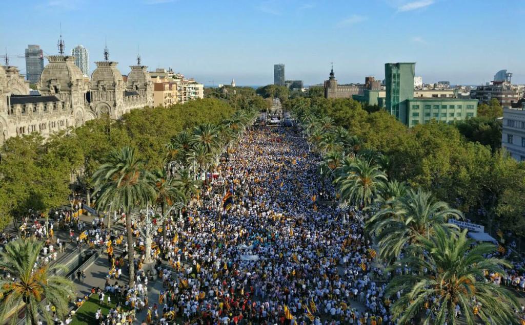 El pueblo catalán mantiene vivo su anhelo de independencia