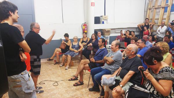 Javier Grasa agradeciendo las muestras de cariño. Foto: @igoiz17 (AraInfo)