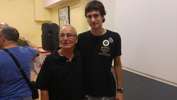 Javier Grasa y Pablo Ibáñez. Foto: @igoiz17 (AraInfo)