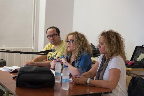 Paky Bejarano y Sonia Yáñez. Foto: Pablo Ibáñez (AraInfo)