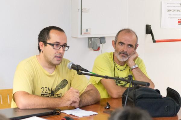 Alberto Cubero durante las Jornadas por la Remunicipalización. Foto: Pablo Ibáñez (AraInfo)