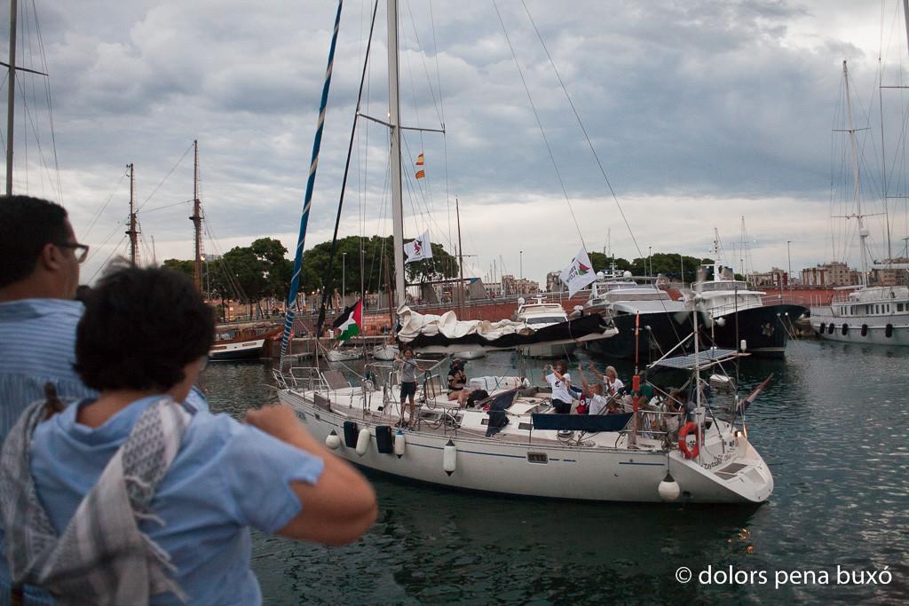 El velero Zaytouna-Oliva, de la flotilla de Mujeres Rumbo a Gaza, llega a Ajaccio