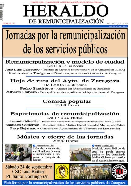 Cartel realizado por la Plataforma para anunciar las Jornadas.