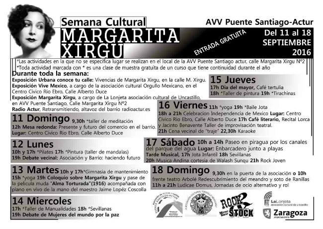 """Recta final para la Semana Cultural """"Margarita Xirgu"""""""
