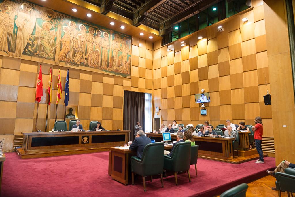 El último pleno municipal de Zaragoza del año finaliza con la aprobación definitiva de las Ordenanzas Fiscales 2019