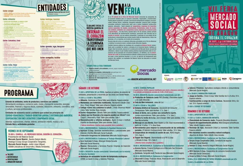 Programa de la VII Feria del Mercado Social Aragón