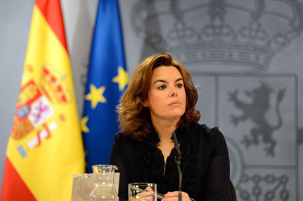 Soraya Saénz trata de ser la imagen de fuerza de un Gobierno deslegitimado