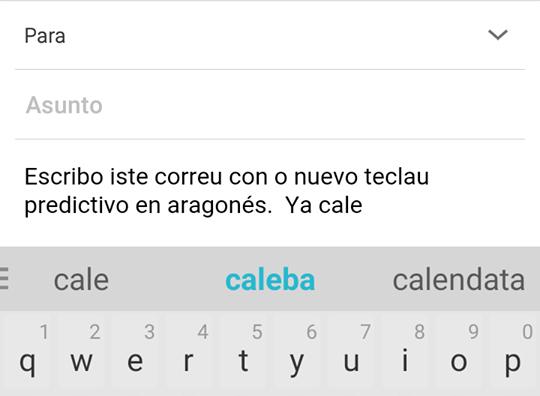 Swiftkey publica lo primer teclau predictivo en aragonés pa mobils y tauletas