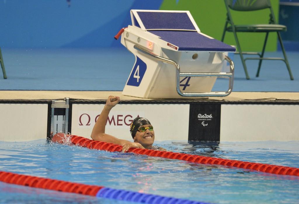 Tercera medalla de Teresa Perales en Río, oro en los 50 metros espalda