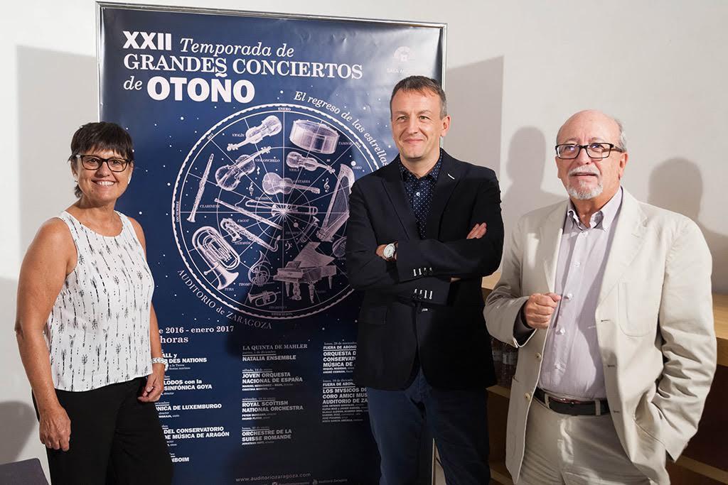 Presentación de la nueva programación de la XXII Temporada de Grandes Conciertos de Otoño en el Auditorio de Zaragoza