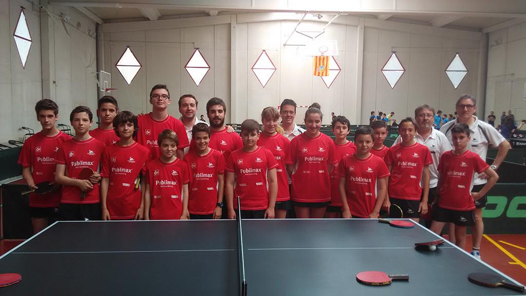 39 aragoneses participan en Iruñea en el VI Circuito de Jóvenes Zona Norte de tenis de mesa