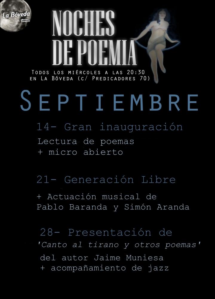 Cartel 'Noches de Poemia'