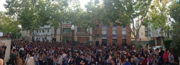 Movilización en Teruel. Foto: @PurnaEstudiants