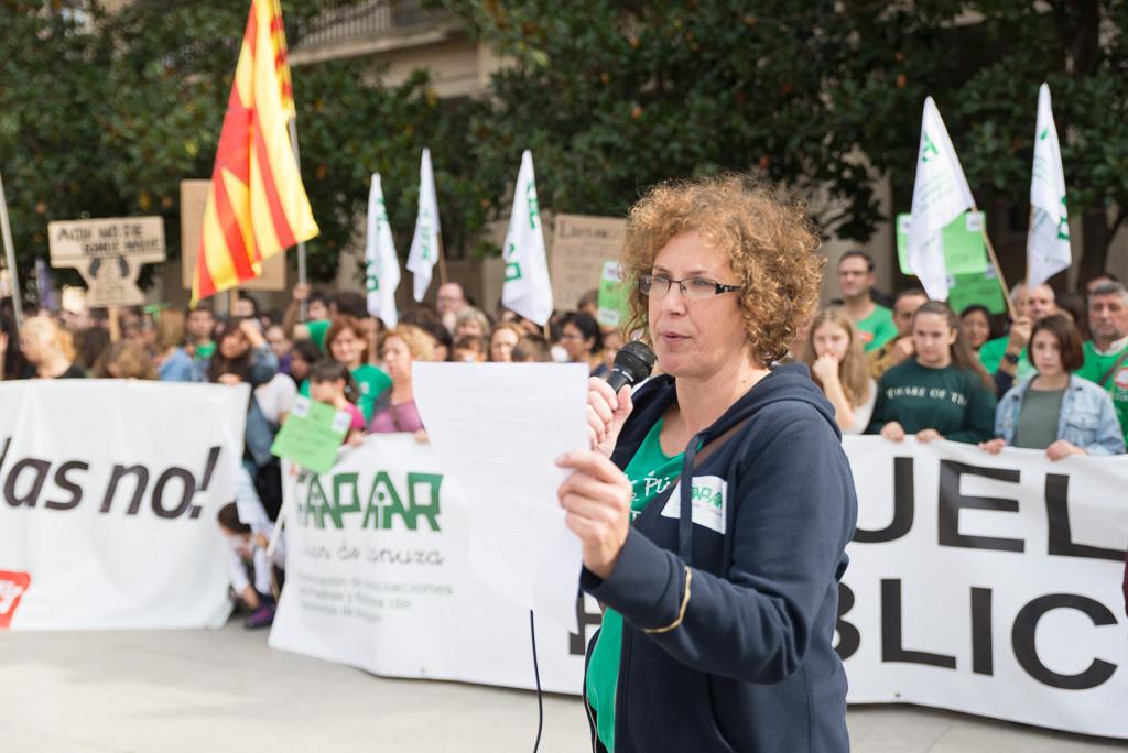 Manifestación en Zaragoza. Foto: Pablo Ibáñez (AraInfo)