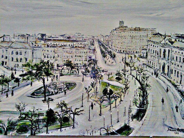 La pintura de Javier Berne inicia la serie de exposiciones mensuales de Arte en Torrero
