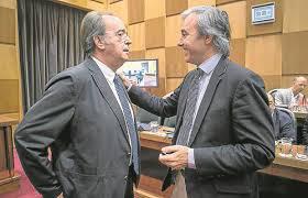 Anadón y Azcón en un Pleno municipal.