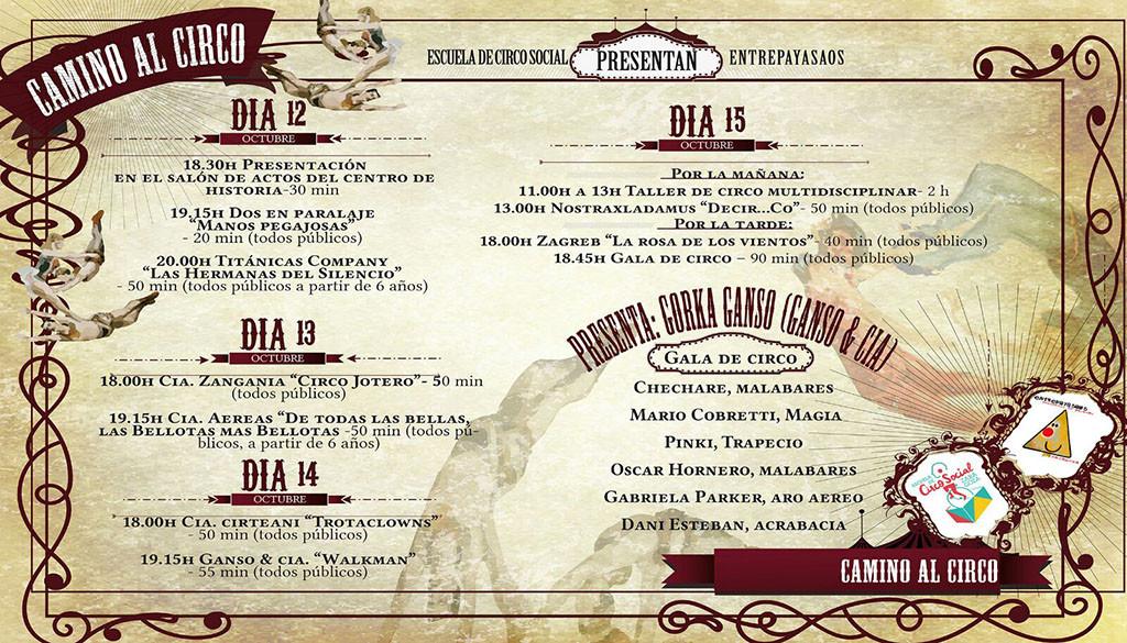 'Camino al Circo' en el Centro de Historias con Entrepayasaos y la Escuela Circo Social