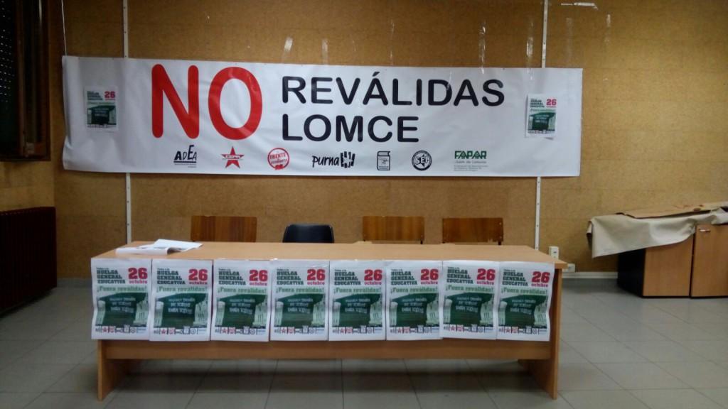 Jornada de huelga general educativa del colectivo estudiantil en Aragón