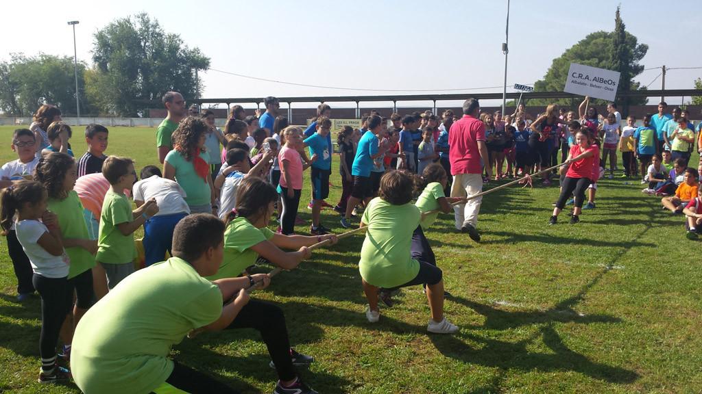 300 escolares participan en los XXXIII Juegos Tradicionales de Belver d'a Cinca