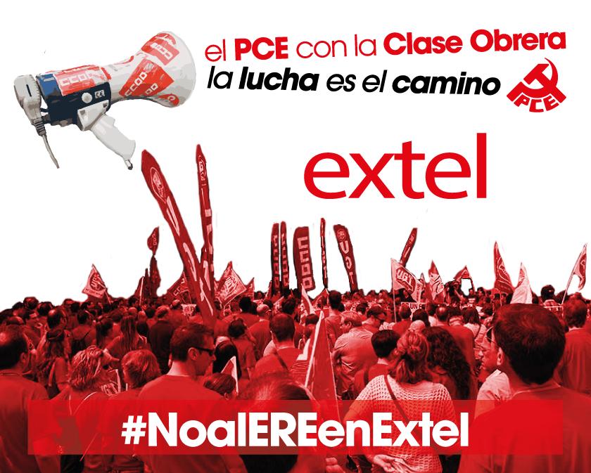El PCE Aragón muestra su apoyo a las movilizaciones de la plantilla de Extel