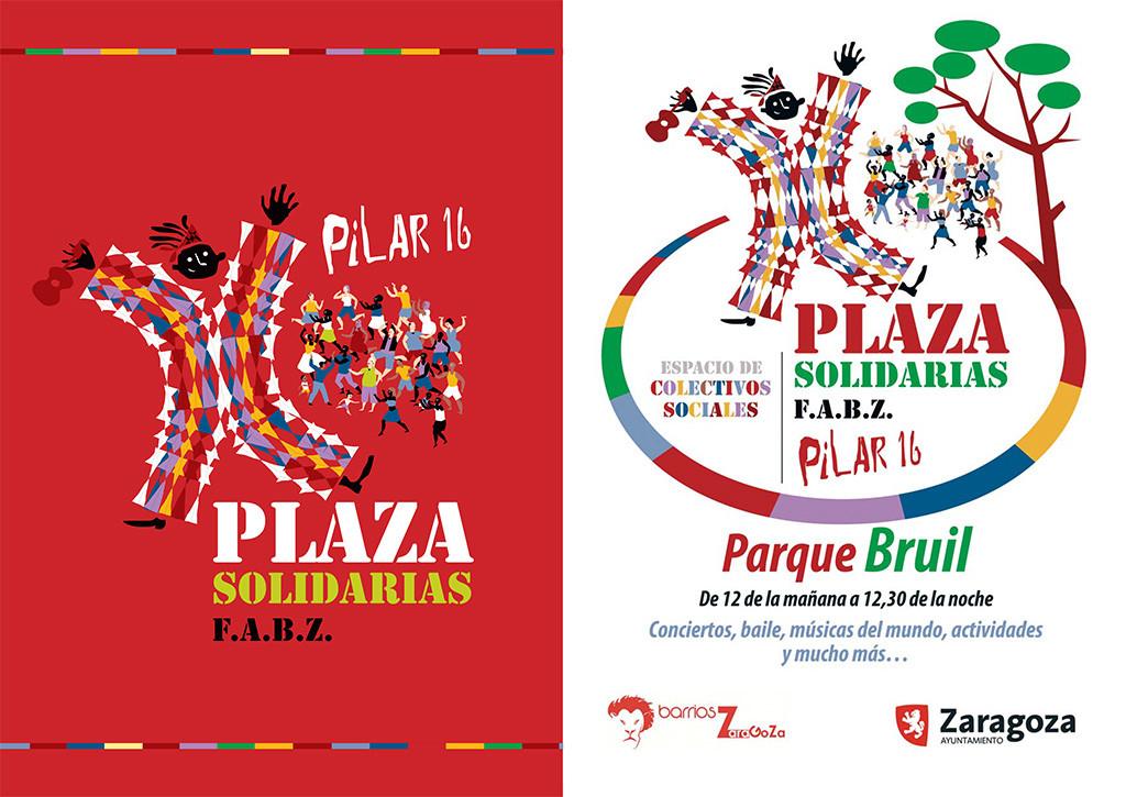 'Plaza Solidarias', un lugar de encuentro entre los colectivos sociales durante los Pilares